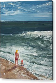 Beach Babes II Acrylic Print by Pete Maier