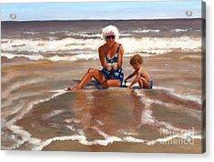 Beach Babes Acrylic Print by Pat Burns