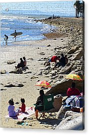 Beach Babies 2 Acrylic Print by Robin Hernandez