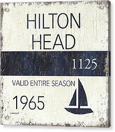 Beach Badge Hilton Head Acrylic Print