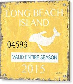 Beach Badge Long Beach Island Acrylic Print