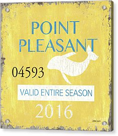Beach Badge Point Pleasant Acrylic Print