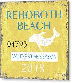 Beach Badge Rehoboth Beach Acrylic Print