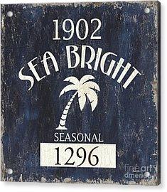 Beach Badge Sea Bright Acrylic Print