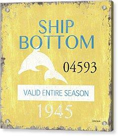 Beach Badge Ship Bottom Acrylic Print