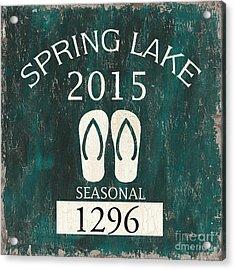 Beach Badge Spring Lake Acrylic Print by Debbie DeWitt