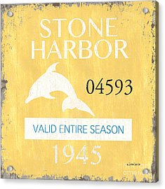 Beach Badge Stone Harbor Acrylic Print