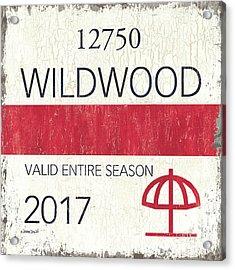 Beach Badge Wildwood 2 Acrylic Print