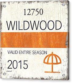 Beach Badge Wildwood Acrylic Print