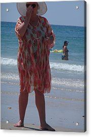 Acrylic Print featuring the painting Beach Beauty by Esther Newman-Cohen