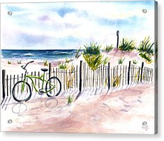Beach Bike At Seaside Acrylic Print