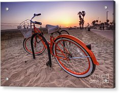 Beach Bike Acrylic Print
