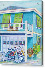 Beach Bikes Acrylic Print