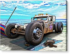 Beach Blanket Rat Rod Acrylic Print