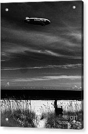 Beach Blimp Acrylic Print by WaLdEmAr BoRrErO
