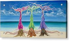 Beach Bliss Buddies Acrylic Print by Angel Fritz