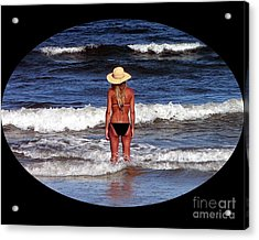 Acrylic Print featuring the photograph Beach Blonde .png by Al Powell Photography USA