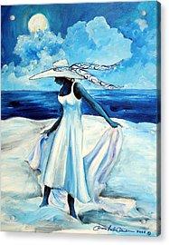 Beach Blues Acrylic Print by Diane Britton Dunham