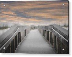 Acrylic Print featuring the photograph Beach Boardwalk by Judy Hall-Folde