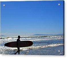 Beach Boy 2 Acrylic Print by Robin Hernandez