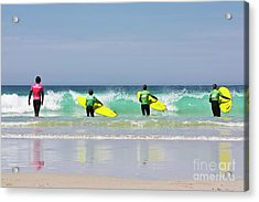 Acrylic Print featuring the photograph Beach Boys Go Surfing by Terri Waters