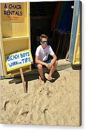 Beach Boys Work For Tips Acrylic Print