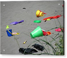 Beach Buckets Acrylic Print by Gregory Smith
