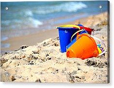 Beach Buckets Acrylic Print