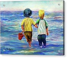 Beach Buddies Acrylic Print by Loretta Luglio