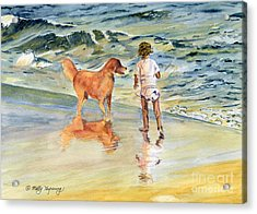 Beach Buddies Acrylic Print by Melly Terpening