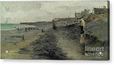 Beach By Dieppe, 1881 Acrylic Print