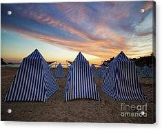 Beach Cabins Acrylic Print