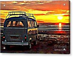 Beach Camper Acrylic Print