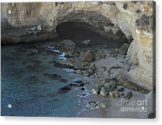 Beach Cave From The Cliffs In Malhada Do Baraco Acrylic Print