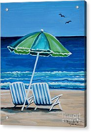 Beach Chair Bliss Acrylic Print
