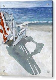 Beach Chair Acrylic Print