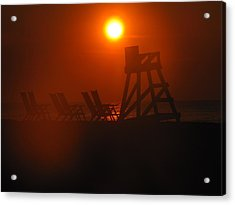 Beach Chair Silhouette 1 Acrylic Print