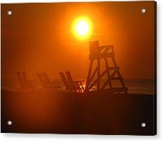 Beach Chair Silhouette 2 Acrylic Print