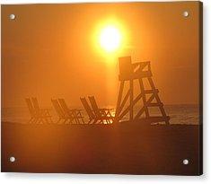 Beach Chair Silhouette 3 Acrylic Print