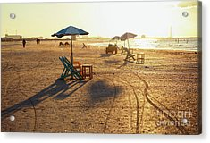 Beach Chairs And Tables Acrylic Print by Mohamed Elkhamisy