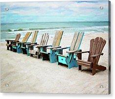 Beach Chairs Acrylic Print