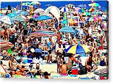 Beach Chaos Acrylic Print by Diana Angstadt