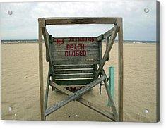 Beach Closed Acrylic Print by Mary Haber