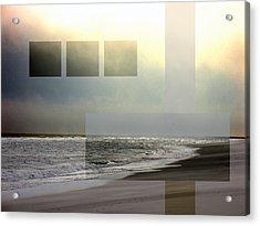 Beach Collage 2 Acrylic Print by Steve Karol