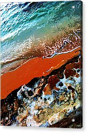 Beach Collage Acrylic Print by Erika Swartzkopf