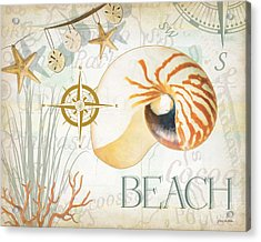 Beach Collage Acrylic Print by Grace Pullen