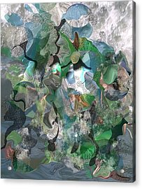 Beach Collage Acrylic Print by Peter Shor