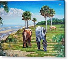 Beach Combers Acrylic Print
