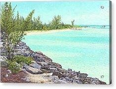 Beach Cove Acrylic Print