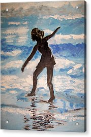 Beach Dancer Acrylic Print by Ann Whitfield